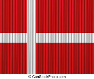 Textured flag of Denmark in nice colors