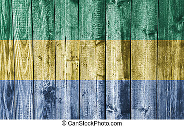Textured flag of Gabun in nice colors
