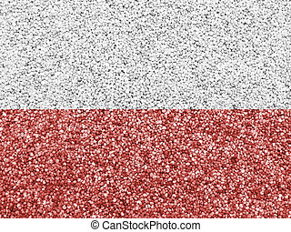 Textured flag of Poland in nice colors