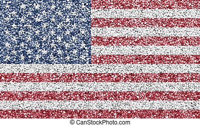 Textured flag of the USA in nice colors