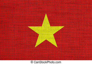 Textured flag of Vietnam in nice colors