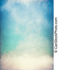 Textured Fog with Gradient - Fog and clouds on a vintage,...