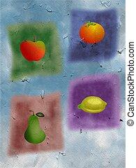 fruit medley - textured fruit medley design