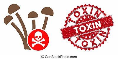 textured, fungicide, アイコン, 切手, 毒素