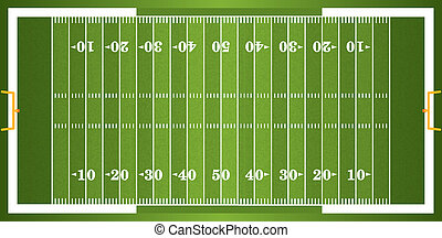 Textured Grass American Football Field - A vector grass ...