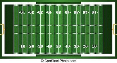 Textured Grass American Football Field - A grass textured...