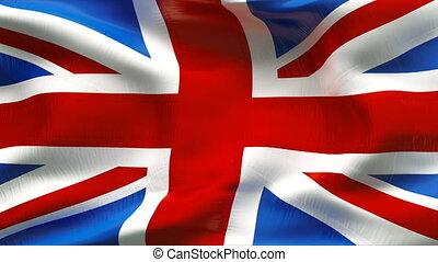 textured, großbritannien, watte, fahne