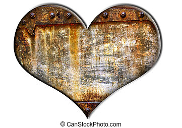 textured heart on a white background