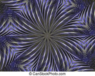 Textured Kaleidoscope - Layered, curving textured,...