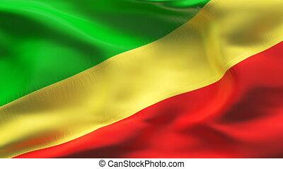 Textured KONGO cotton flag - Textured KONGO cotton flag...