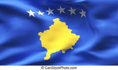 Textured KOSOVO  cotton flag