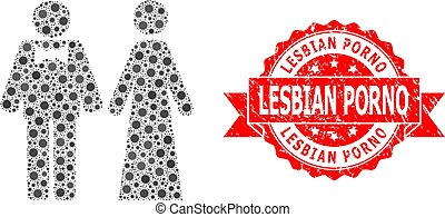 Textured Lesbian Porno Seal and Covid Mosaic Just Married ...