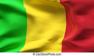 Textured MALI  cotton flag