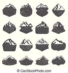 Textured Mountain Shapes