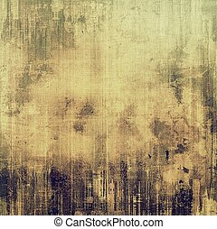 Textured old pattern as background. With different color patterns: yellow (beige); brown; gray; green