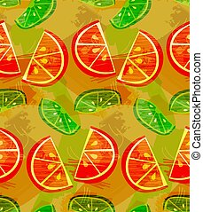 Textured orange and lime slices grudge