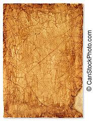 textured, oud, papier