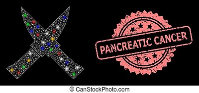 Textured Pancreatic Cancer Stamp and Network Crossing Knives with Flash Nodes