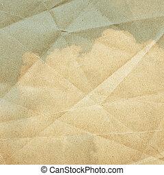 textured, papier, ciel, fond, nuages, vendange
