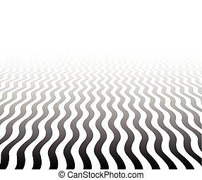 textured, perspective, surface., ondulé