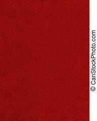 A red paper background with mottled texture.