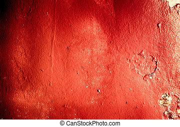 Textured red metal grunge background