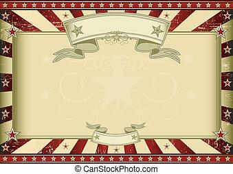 textured, retro, certificado, rojo