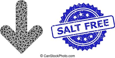 Textured Salt Free Seal and Recursive Down Direction Icon ...