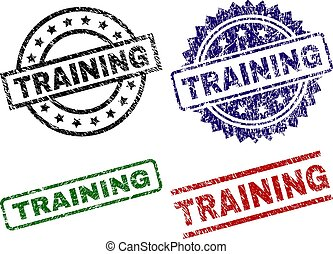 textured, selos, selo, danificado, treinamento