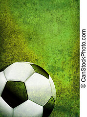 Textured Soccer Football Field Background with Ball