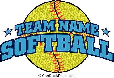 Textured Softball Team Design