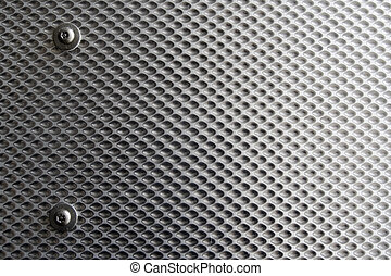 Textured Steel Plate. Dimpled industrila feel with screw heads and fixings.