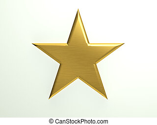 textured, stella, oro, icona