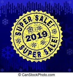Textured SUPER SALE! Stamp Seal on Winter Background