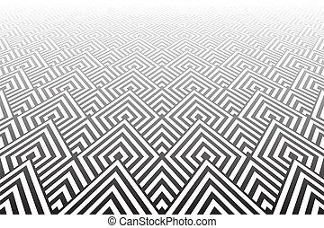 textured, surface., carrelé