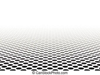 textured, surface., kilátás