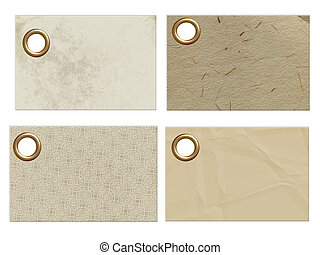 Textured Tags - Four blank textured tags