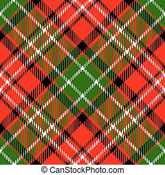 tartan plaid - Textured tartan plaid. Seamless vector ...