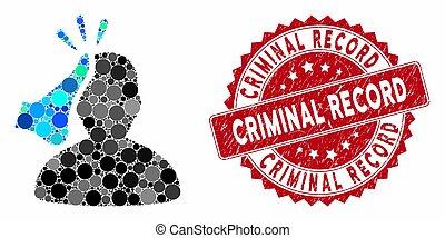 textured, timbre, enregistrement, kickboxer, criminel, ...