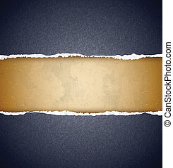 Textured torn paper