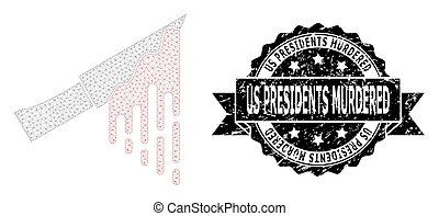 Textured Us Presidents Murdered Ribbon Seal Stamp and Mesh ...