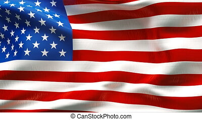 Textured USA cotton flag
