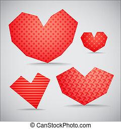 Textured valentine hearts collection