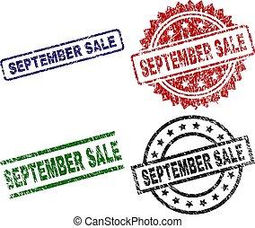 textured, venda, selos, selo, danificado, setembro