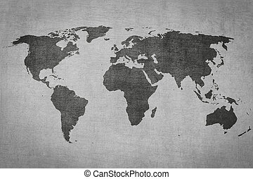 Grey map world stock photo images 18434 grey map world royalty textured vintage world map on grey background textured gumiabroncs Image collections