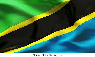 textured, vlag, tanzania, katoen