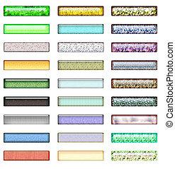 Textured Web Buttons