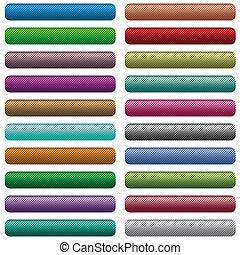 Textured web buttons set
