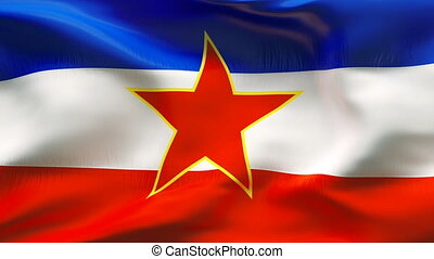 Textured YUGOSLAVIA cotton flag - Textured YUGOSLAVIA cotton...