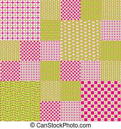 texturen, anders, set, achtergronden, gekleurde